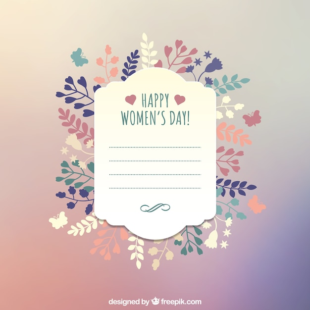 Happy women\u0027s day greeting card template Vector Free Download