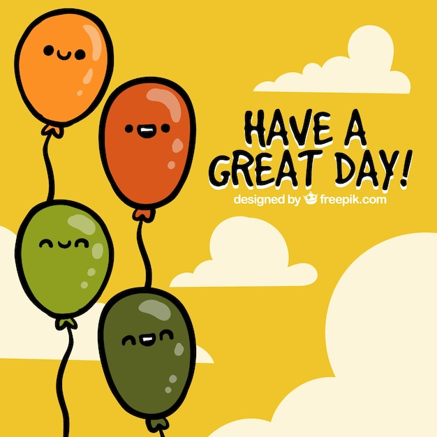 Have a great day, greeting card Vector Free Download