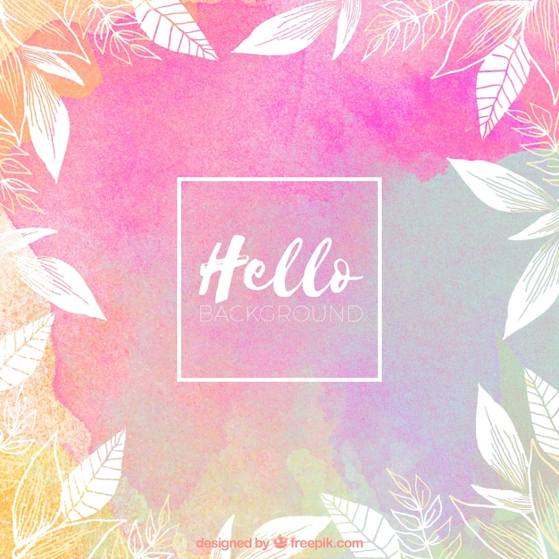Watercolor Wallpaper Backgrounds Quote Hello Background With Watercolors Vector Free Download