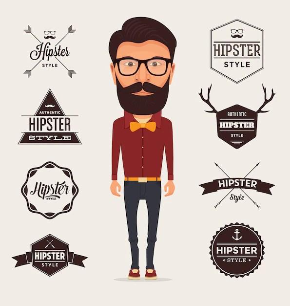 Hipster logo templates collection Vector Free Download - hipster logo template