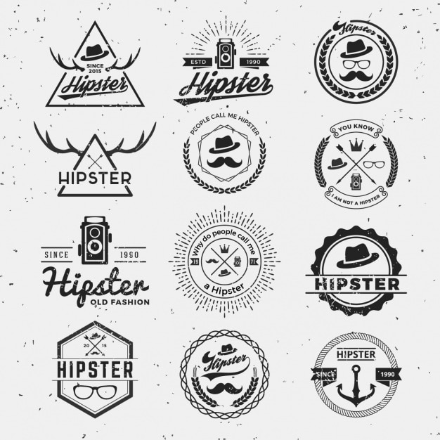 Hipster Vectors, Photos and PSD files Free Download - hipster logo template