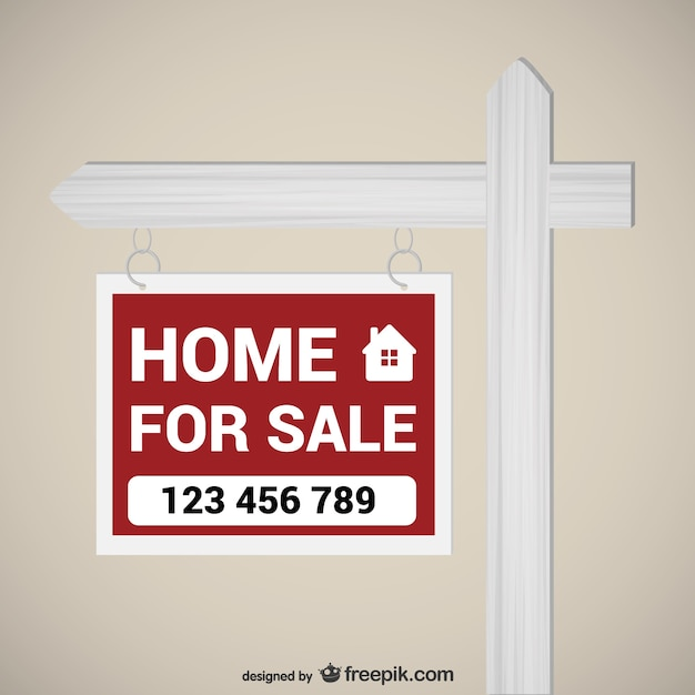Home for sale sign Vector Free Download - forsale sign