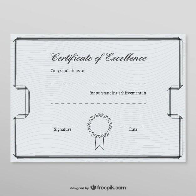 Honorary certificate template Vector Free Download - membership certificate template