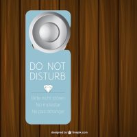 Hotel door sign Vector | Free Download