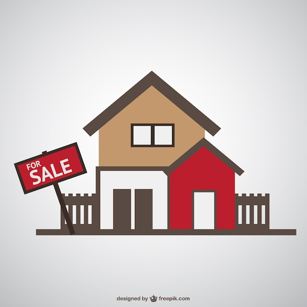 House for sale vector Vector Free Download
