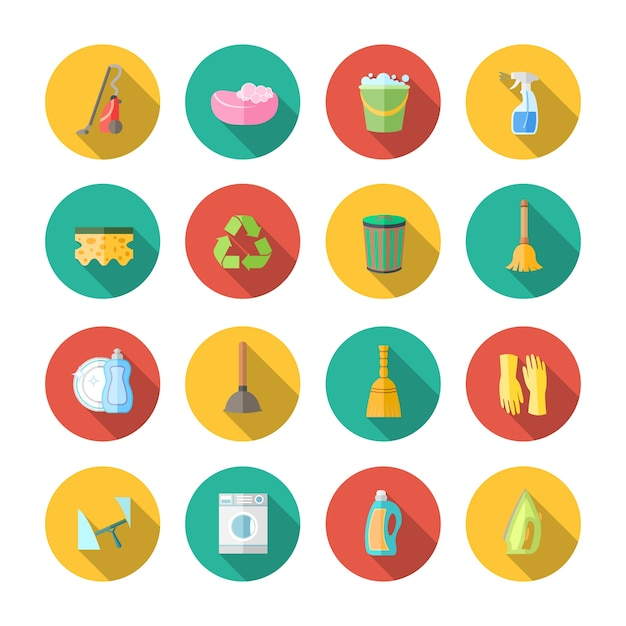 Icon about cleaning Vector Free Download