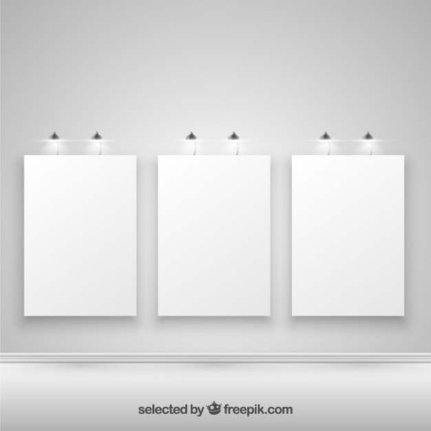 Illuminated blank posters Vector Free Download