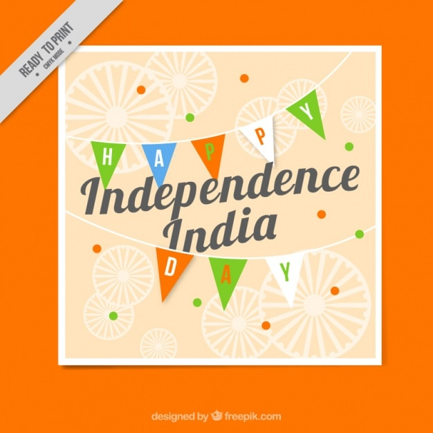 India independence day greeting card Vector Free Download