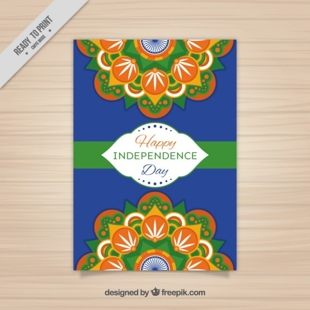 Indian independence day flyer design Vector Free Download