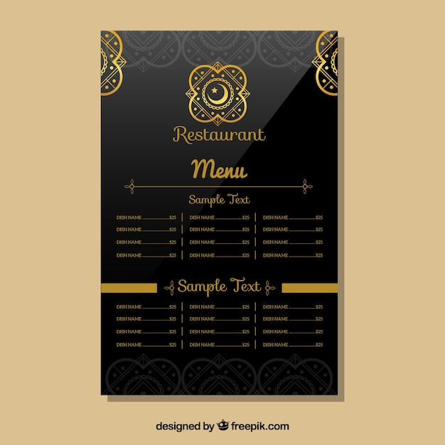 indian restaurant menu templates - Doritmercatodos