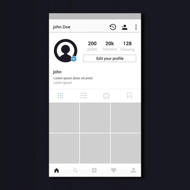 Instagram Profile template design Vector Premium Download