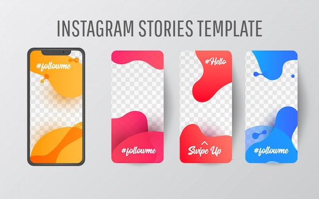 Instagram story template for social media Vector Premium Download