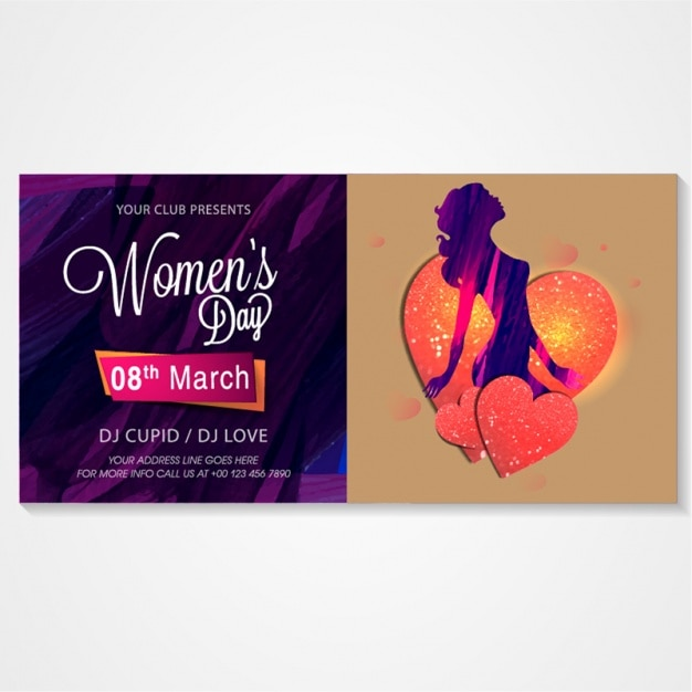 Invitation card for women\u0027s day party Vector Premium Download - 's day party invitation