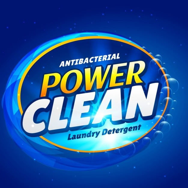 Label for cleaning products Vector Free Download