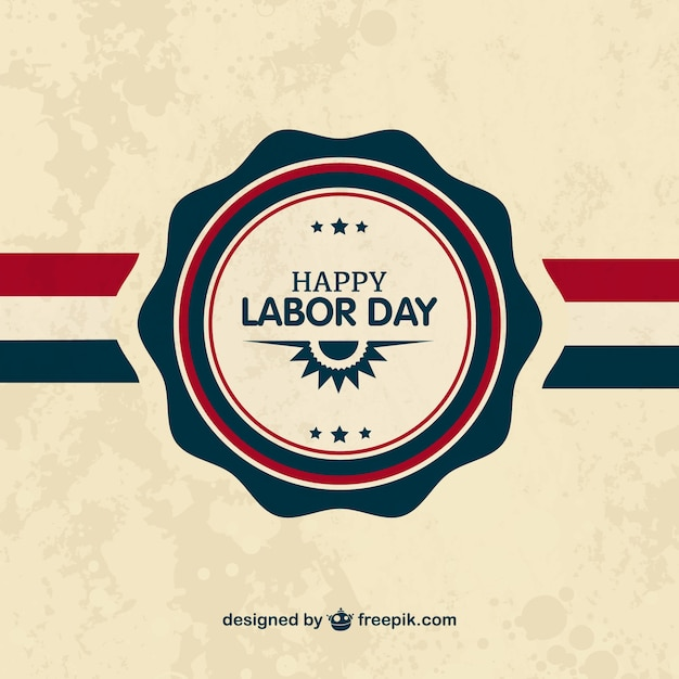 Labor day badge Vector Free Download - labour day flyer template