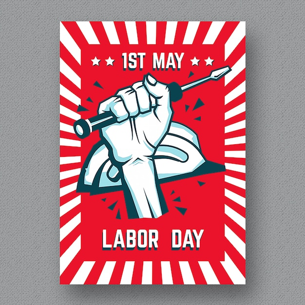 Labor day flyer template Vector Premium Download