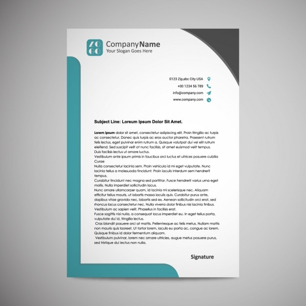 Letterhead template design Vector Free Download - psd letterhead template