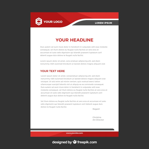 Letterhead Vectors, Photos and PSD files Free Download - psd letterhead template