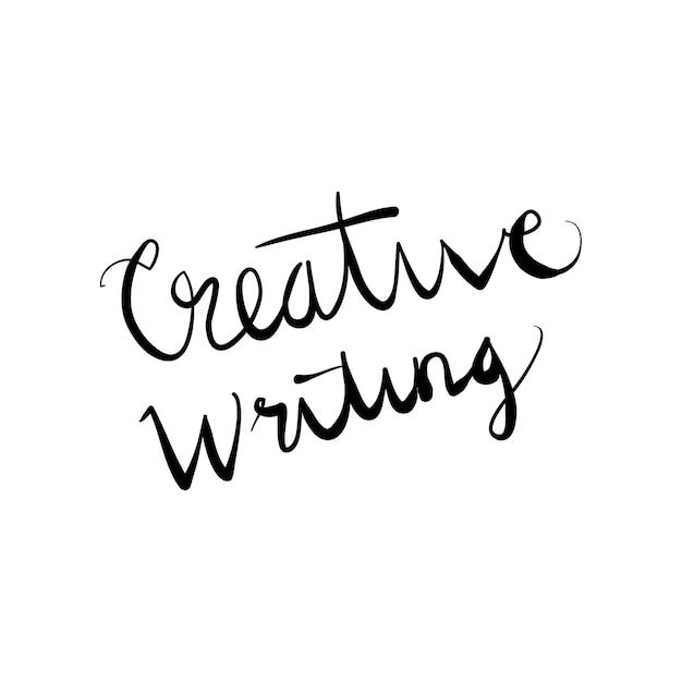 Lettering word creative writing doodle vector illustration Vector