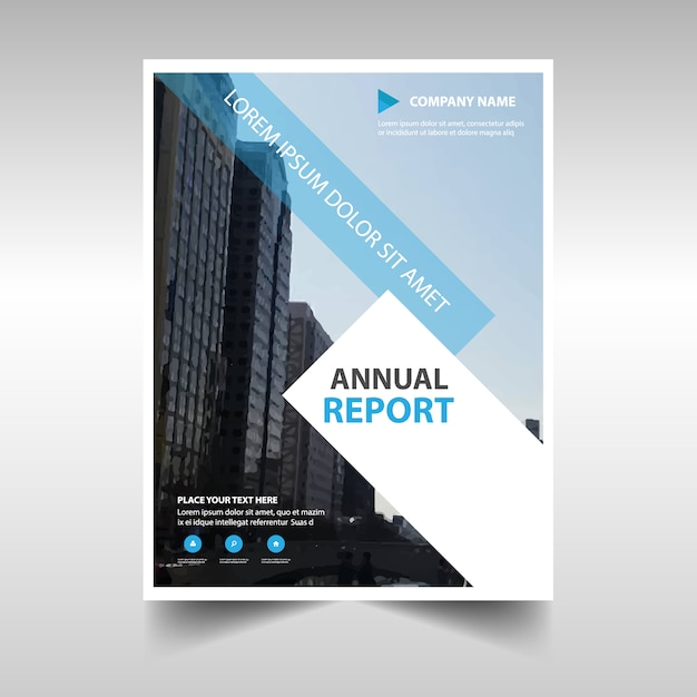 Light blue professional annual report template Vector Free Download - professional report template
