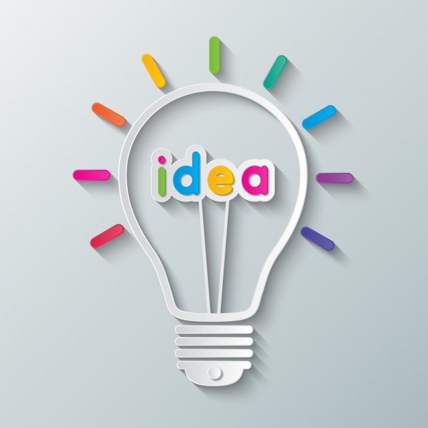 Light bulb with the word \