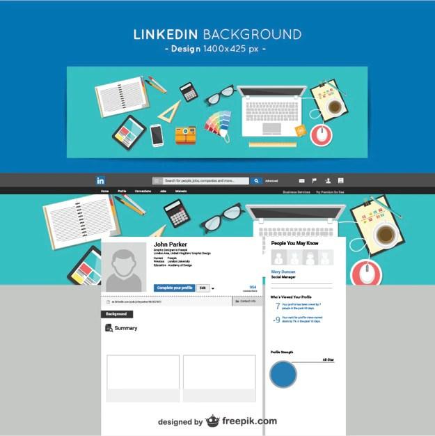 LinkedIn designers background Vector Free Download