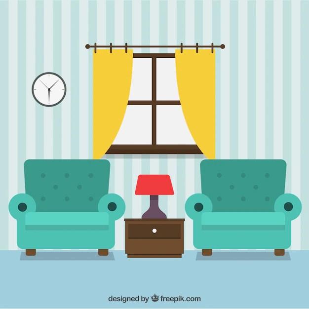 Living room decoration Vector Free Download - free living room furniture