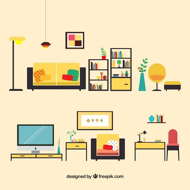 Living room furniture Vector Free Download - free living room furniture