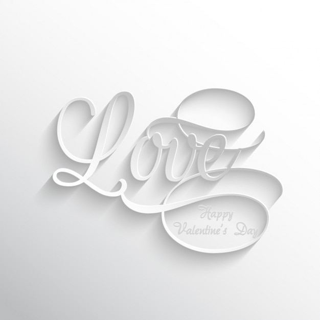 3d Love Couple Wallpaper Love Text White Background Vector Free Download