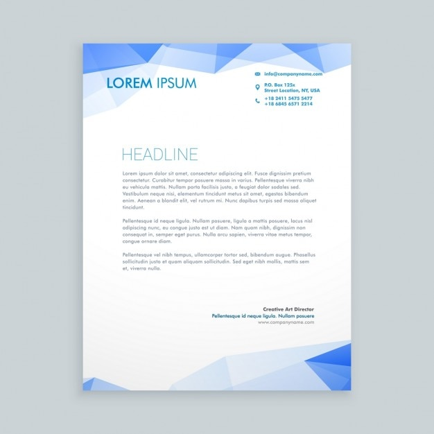 Low poly letterhead design Vector Free Download