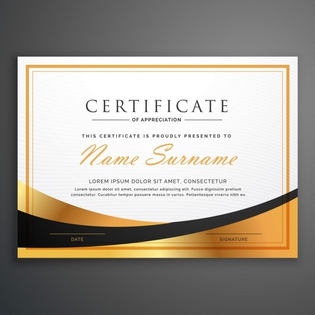 Luxurious certificate Vector Free Download - Free Professional Certificate Templates
