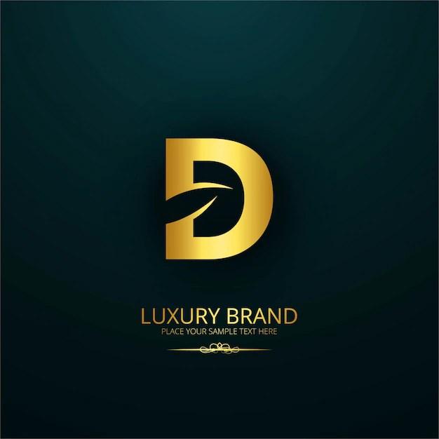 Luxury brand letter d design Vector Free Download