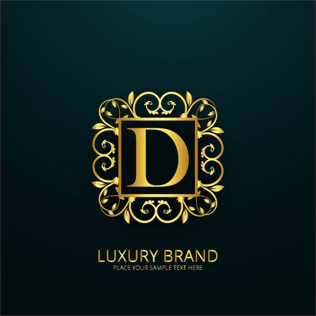 Luxury letter d logo Vector Free Download