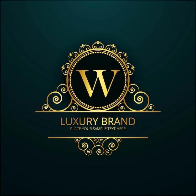 V Letter 3d Wallpaper Luxury Letter W Logo Vector Free Download