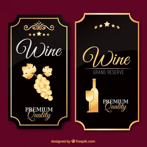 Luxury wine labels in vintage design Vector Free Download