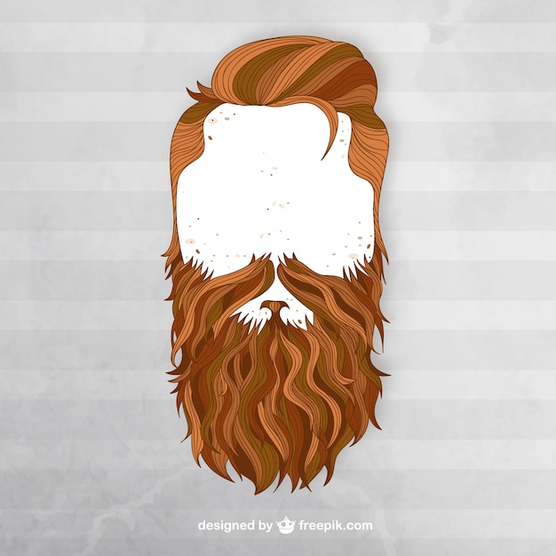 Moustache Wallpaper Hd Man With Beard Vector Free Download