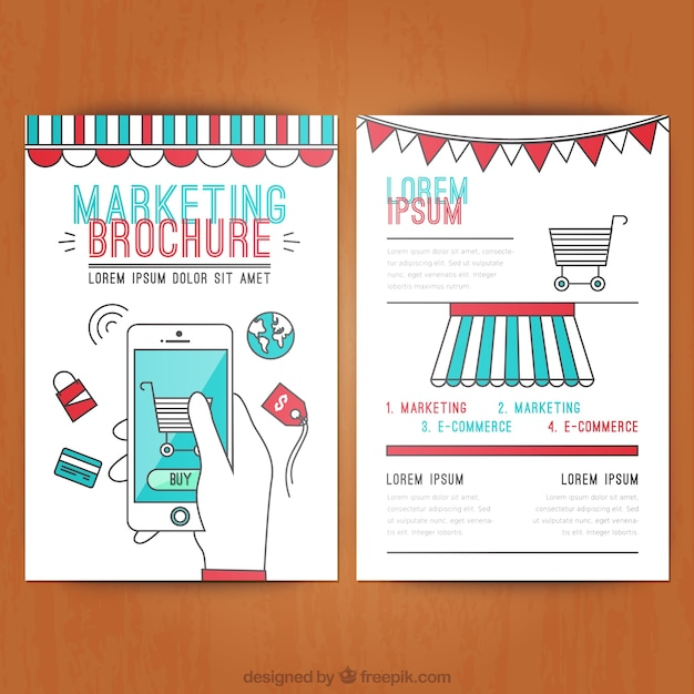 Marketing brochure Vector Free Download - marketing brochure