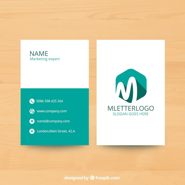 Marketing flyer template with hexagon Vector Free Download - marketing flyer
