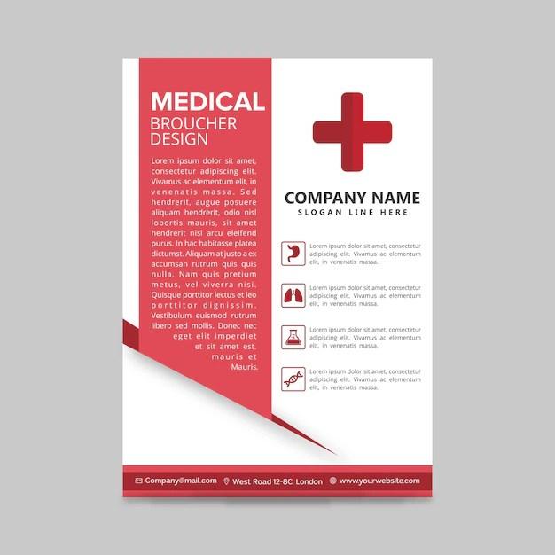 Medical brochure design Vector Free Download - medical brochure