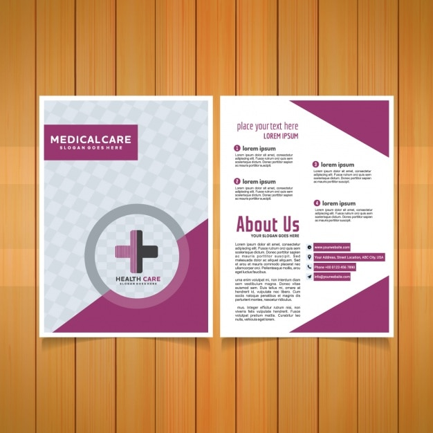 Medical brochure template Vector Free Download - Medical Brochure Template