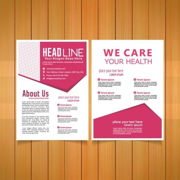 Medical brochure template Vector Free Download