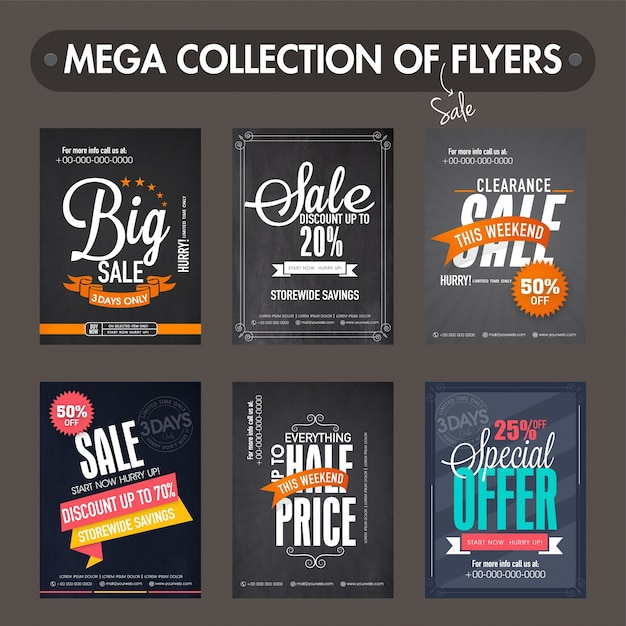 Mega collection of Big Sale and Discount flyers, templates and - discount flyer template