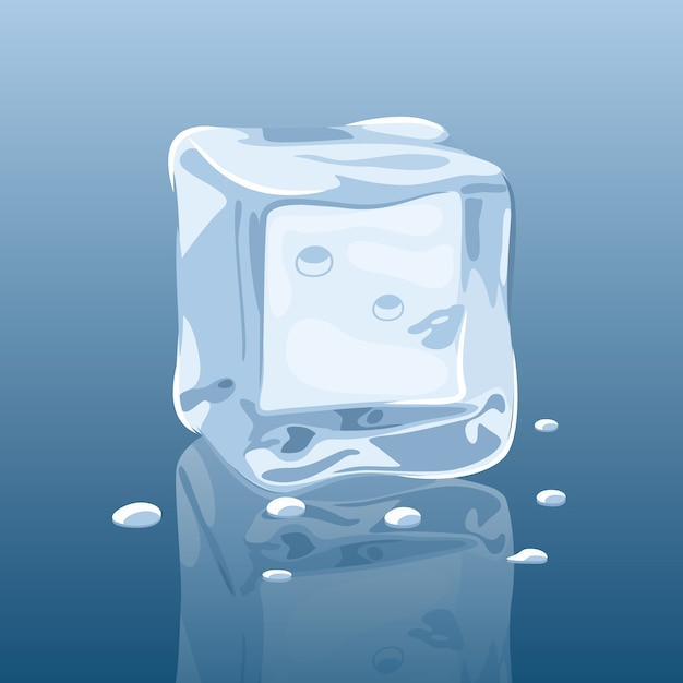 Melting ice cube vector Vector Free Download