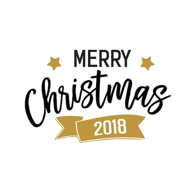 Merry Christmas 2018 banner Vector Free Download - merry christmas email banner