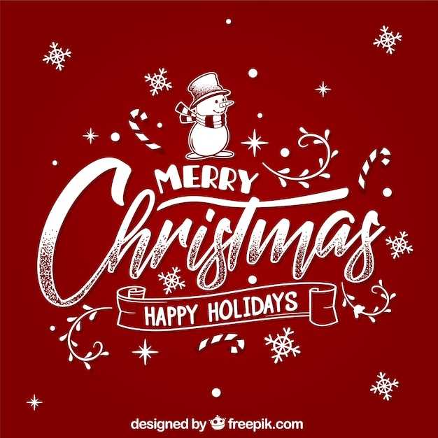 Merry christmas and happy holidays Vector Free Download - free images happy holidays