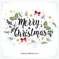 Merry christmas decorative vintage background Vector