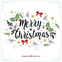 Merry christmas decorative vintage background Vector ...
