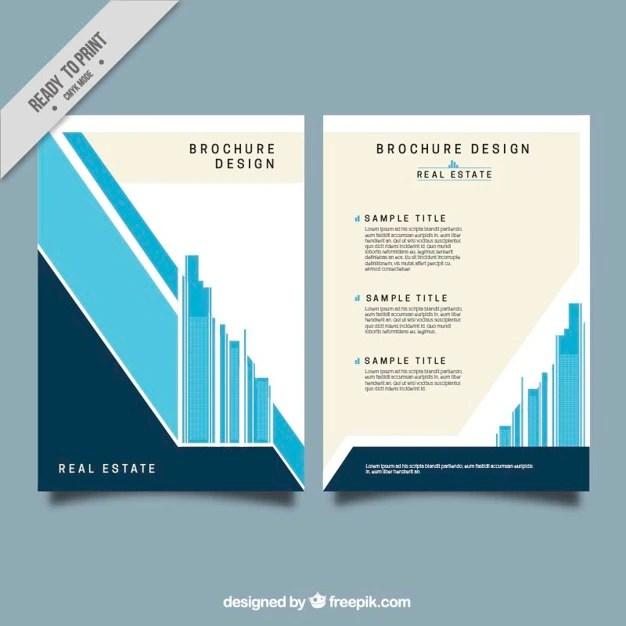 Real estate brochure design vector download  Ceumar download blog