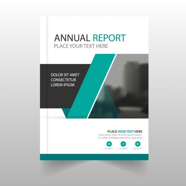 Modern annual report with geometric shapes Vector Free Download - Free Report Cover Page Template