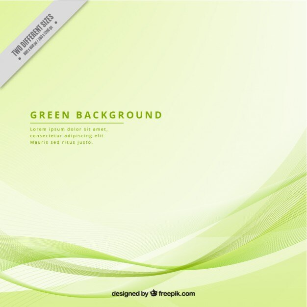 Modern background with green waves Vector Free Download